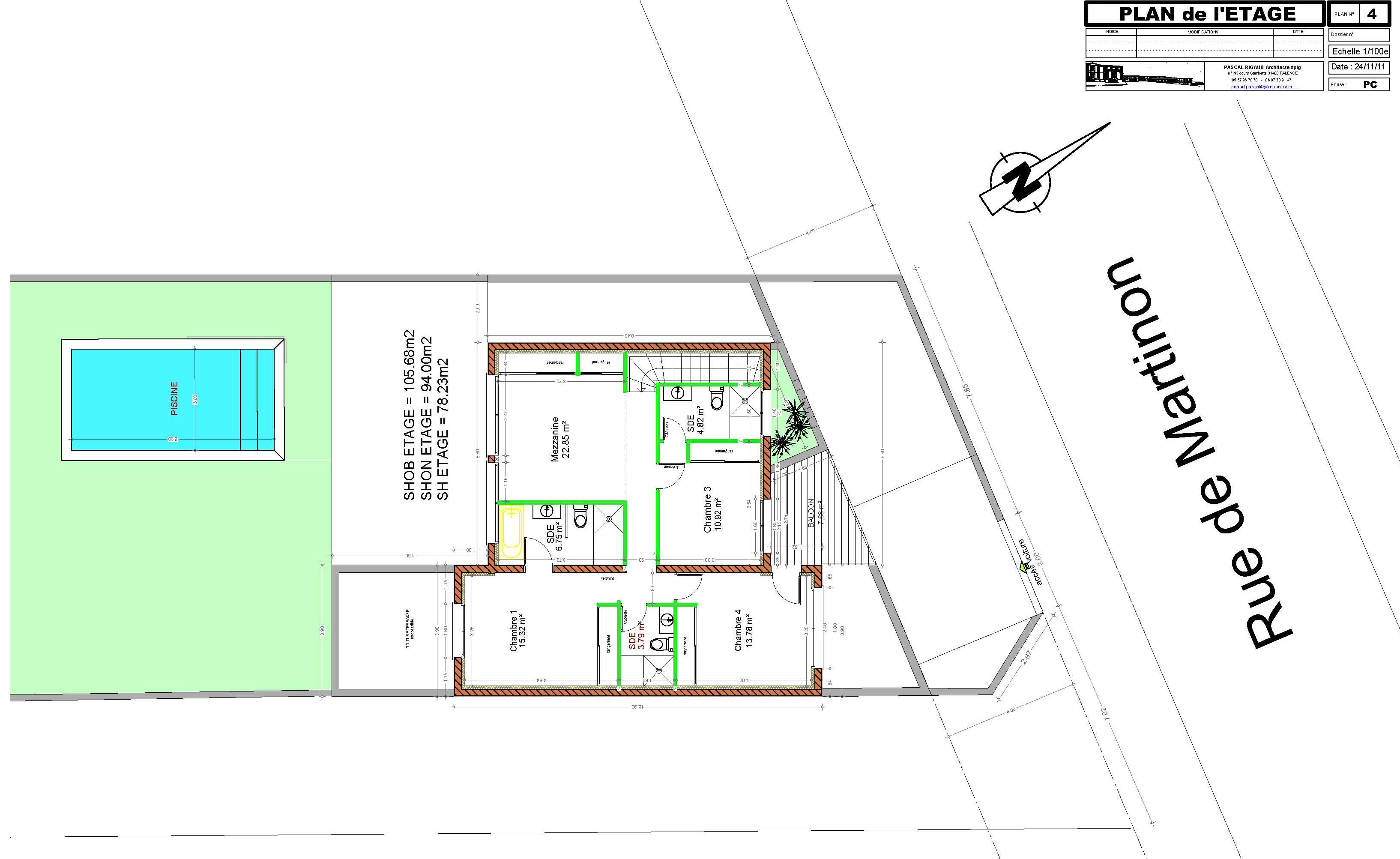 Maison contemporaine archives pascal rigaud architecte for Plan maison mitoyenne contemporaine