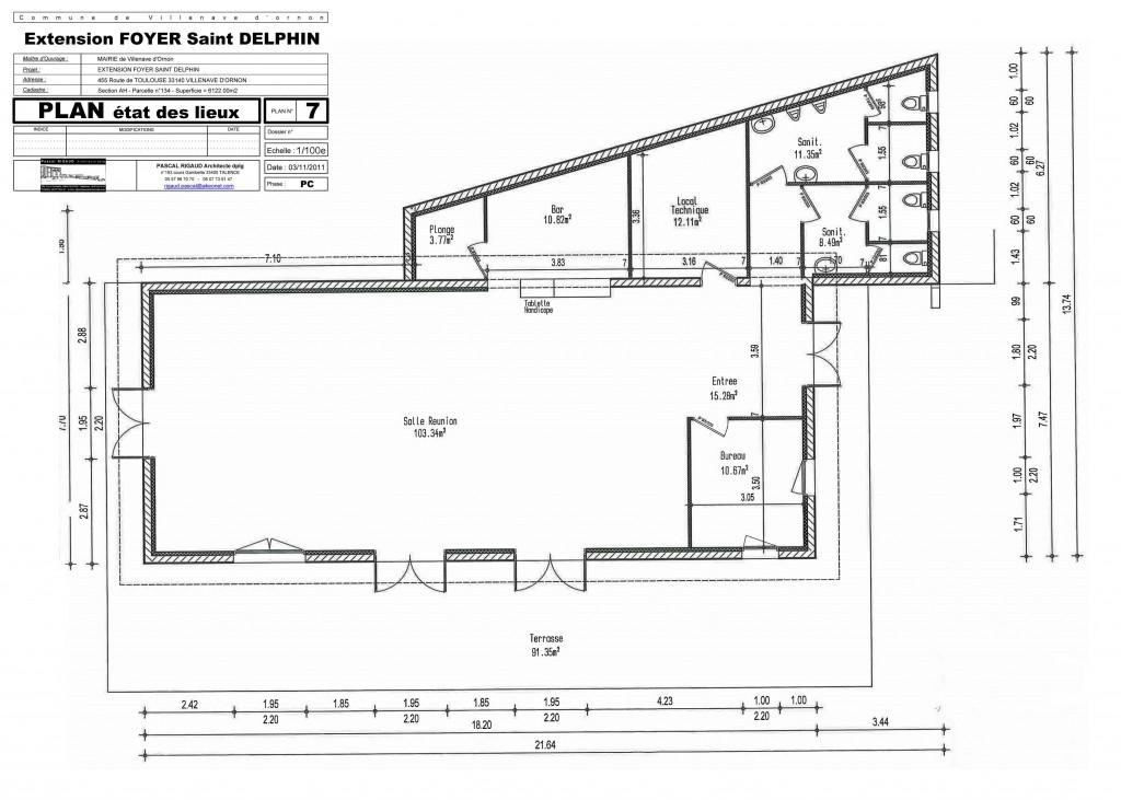 Plan Tat Des Lieux Pascal Rigaud Architecte