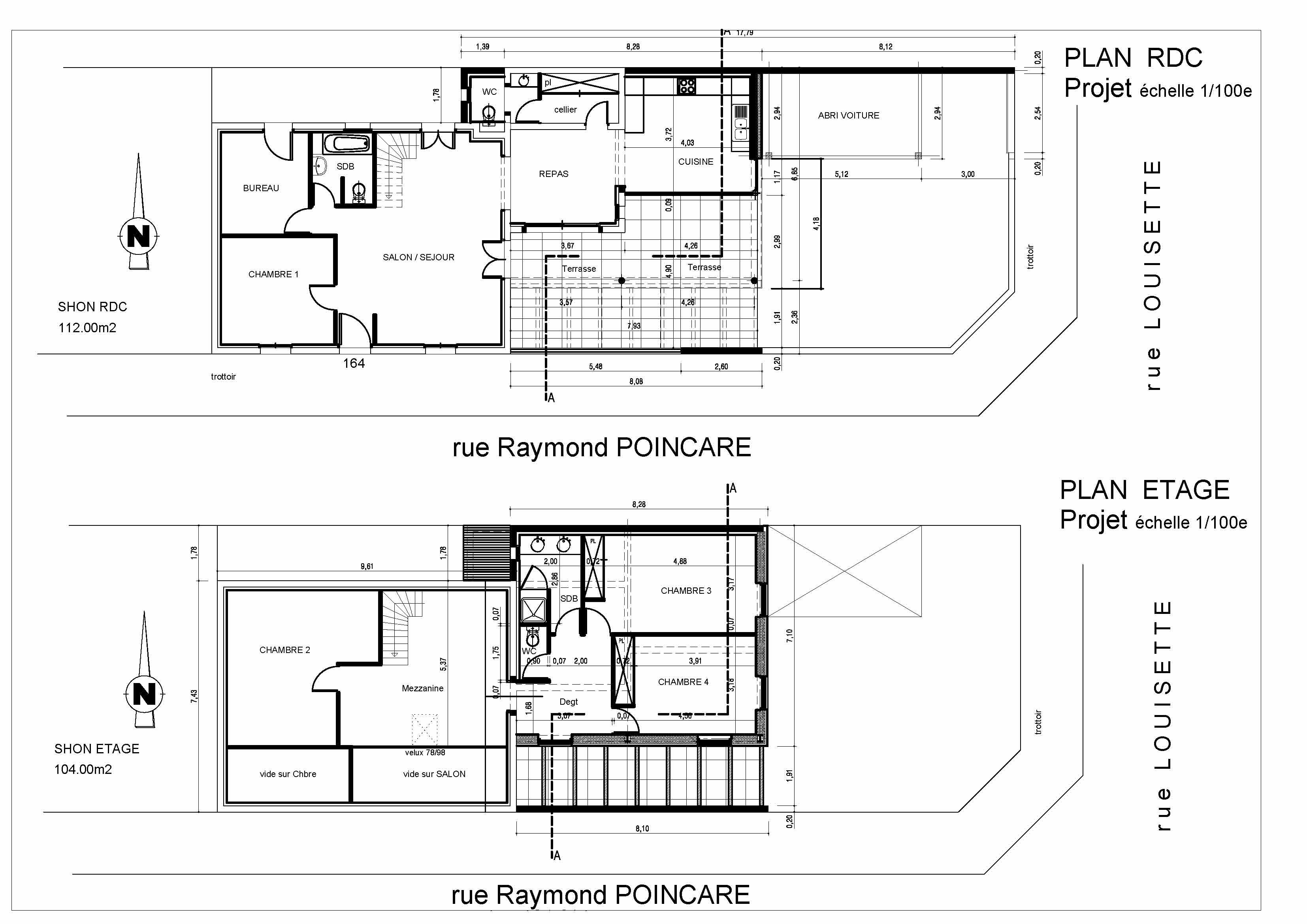 Plan maison pascal rigaud architecte dplgpascal rigaud for Plan d architecte maison