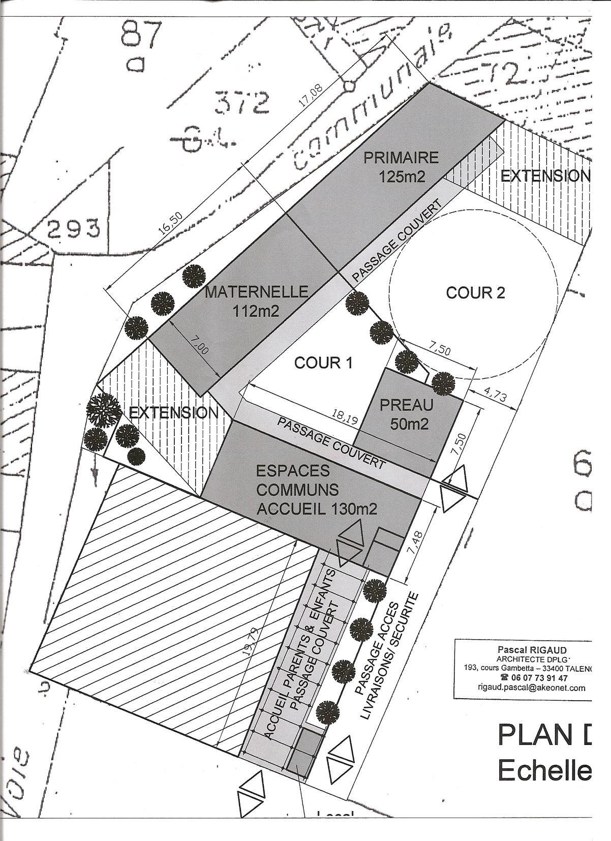 Plan de masse centre de loissirs pascal rigaud - Plan de masse maison individuelle ...